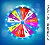 fortune wheel realistic vector... | Shutterstock .eps vector #704370421