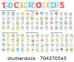 color box icons  illustrations  ... | Shutterstock .eps vector #704370565