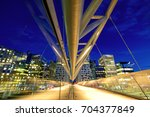 akrobaten pedestrian bridge at... | Shutterstock . vector #704377849