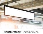 blank advertising billboard at... | Shutterstock . vector #704378071