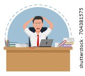 failed and stressed businessman ... | Shutterstock . vector #704381575