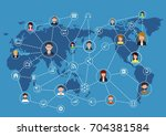 global business communication... | Shutterstock . vector #704381584