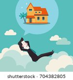 relaxed and successful business ... | Shutterstock .eps vector #704382805