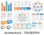 set of most useful infographic... | Shutterstock .eps vector #704383594