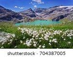 lake in the high tauern... | Shutterstock . vector #704387005