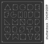 contour font. vector...   Shutterstock .eps vector #704392009