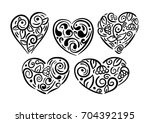 set of vector hearts....