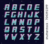 retro font   fashion 80 90s.... | Shutterstock .eps vector #704392399