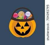 Halloween Pumpkin And Candies...