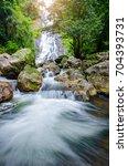 Small photo of Amazing beautiful waterfalls at Sarika Waterfall in Nakhonnayok,Thailand.