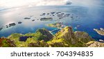 panoramic mountain view of... | Shutterstock . vector #704394835