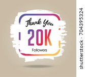 thank you design template for... | Shutterstock .eps vector #704395324