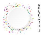 round banner on a white... | Shutterstock .eps vector #704395741