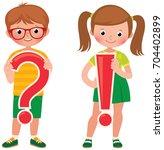 school children girl and boy in ... | Shutterstock .eps vector #704402899