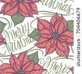 vintage style  christmas... | Shutterstock .eps vector #704406679