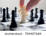 playing chess | Shutterstock . vector #704407684