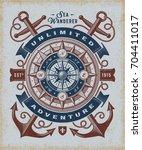 vintage unlimited adventure... | Shutterstock .eps vector #704411017