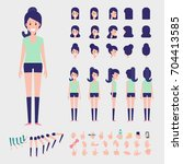 sporty girl character for your... | Shutterstock .eps vector #704413585
