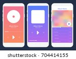 mobile app music player set....