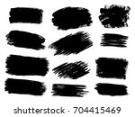 vector black paint  ink brush... | Shutterstock .eps vector #704415469