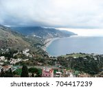 view from taormina  sicily | Shutterstock . vector #704417239