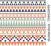 seamless vintage ethnic pattern ... | Shutterstock .eps vector #704423959