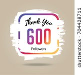 thank you design template for... | Shutterstock .eps vector #704428711