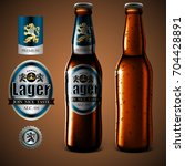 mock up beer label design ... | Shutterstock .eps vector #704428891