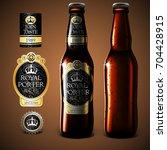 mock up beer label design ... | Shutterstock .eps vector #704428915
