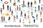 people from different ethnic... | Shutterstock .eps vector #704433721