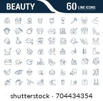 vector graphic set. icons in... | Shutterstock .eps vector #704434354