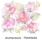 beautiful rose flowers over... | Shutterstock . vector #70443646