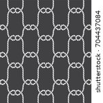 tied fishnet. rope seamless...   Shutterstock .eps vector #704437084