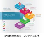 info graphics design template ... | Shutterstock .eps vector #704443375