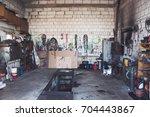 A Garage For Trucks Repairing...