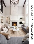beautiful living room interior... | Shutterstock . vector #704444221