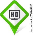 hd display green square pointer ... | Shutterstock .eps vector #704444815