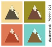 assembly flat icons mountains... | Shutterstock .eps vector #704444905