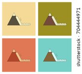 assembly flat icons mountains... | Shutterstock .eps vector #704444971