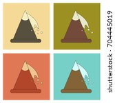 assembly flat icons mountains... | Shutterstock .eps vector #704445019