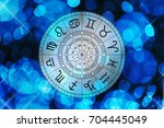 zodiac astrology signs for... | Shutterstock . vector #704445049