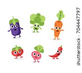 set of fruits and vegetables | Shutterstock .eps vector #704447797