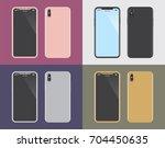 mobile smart phone vector | Shutterstock .eps vector #704450635