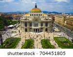 mexico city skyline | Shutterstock . vector #704451805