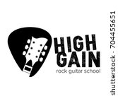 high gain rock guitar school... | Shutterstock .eps vector #704455651