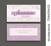 invitation background with... | Shutterstock .eps vector #704459425