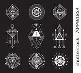 set of sacred geometry.... | Shutterstock . vector #704461834