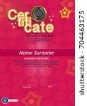 certificate  diploma  frame.... | Shutterstock .eps vector #704463175