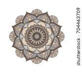 flower mandalas. vintage... | Shutterstock .eps vector #704463709