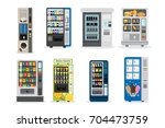 vending machines set. juice and ... | Shutterstock .eps vector #704473759